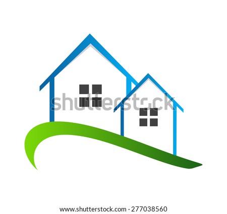 Houses Logo Vector Illustration EPS10 - stock vector