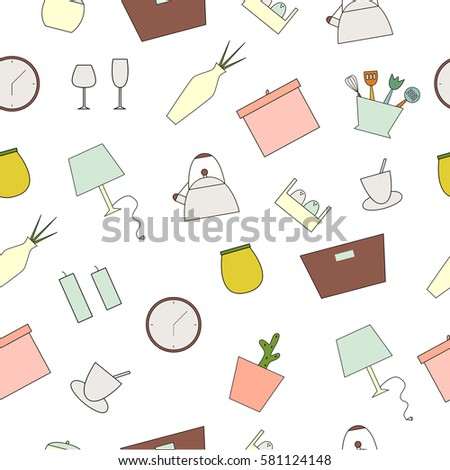 Interior Design Concept Homewares Line Icon Stock Vector 629574104 ...