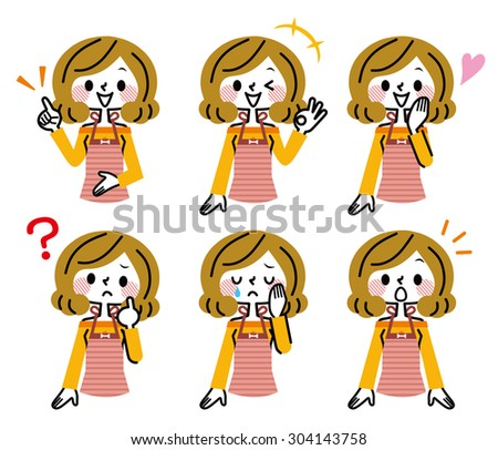 Housewife expression - stock vector