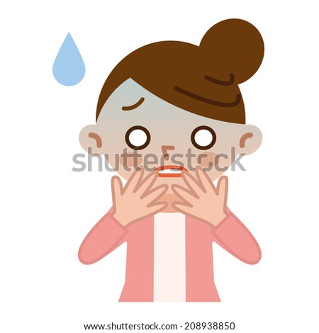 Housewife pale in failure - stock vector