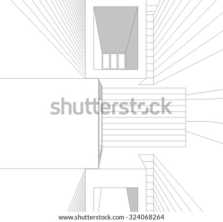Template rectangular cake box simple decoration stock vector housing architecture building vector background pronofoot35fo Gallery
