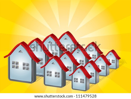 Housing - real estate concept with abstract house illustration