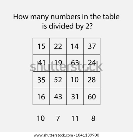 How Many Counting Game Numbers Divided Stock Vector (2018 ...
