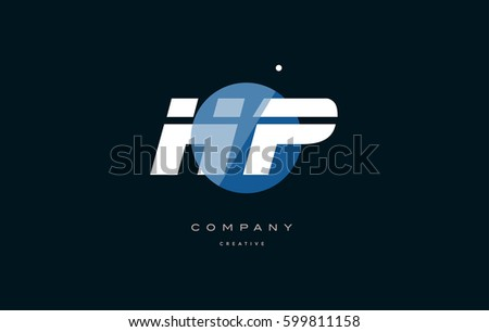 h and p template - yf y f blue circle dot stock vector 599676686 shutterstock