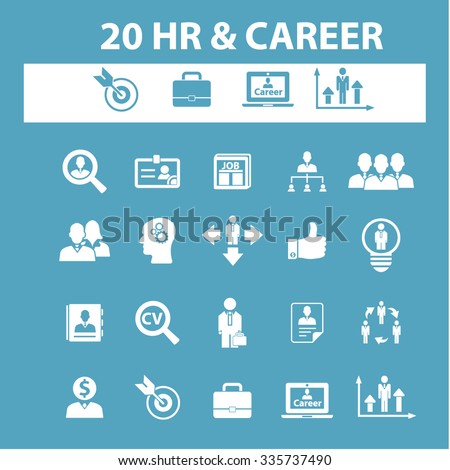 Hr Career Job Icons Signs Vector Stock Vector 335416574 - Shutterstock