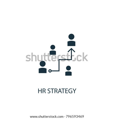 Hr Strategy Icon Simple Element Illustration Stock Vector