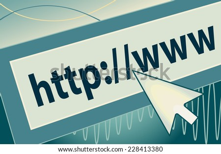 http://www Internet address with cursor icon - stock vector