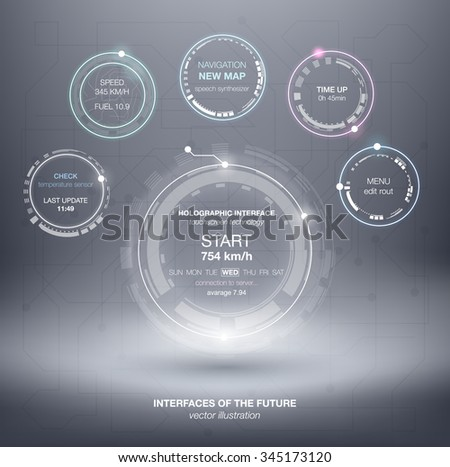 HUD abstract circle structure. Science infographic elements background. Futuristic user interface. Abstract background with connecting dots and lines. Connection structure.