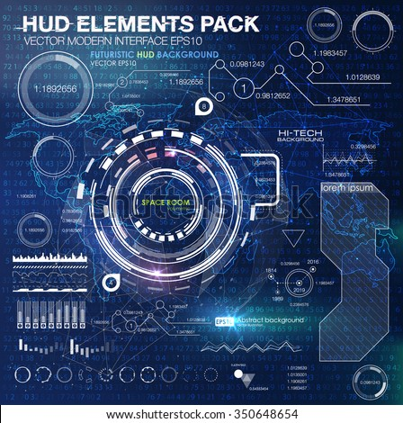HUD background outer space. infographic elements. futuristic user interface. Vector science Polygonal background. Futuristic HUD background. Vector science abstract matrix background binary code - stock vector