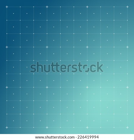HUD interface with Grid. Vector - stock vector