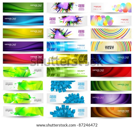 Huge Banner Vector Set - stock vector