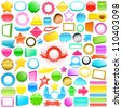 Huge collection of colourful labels - stock vector