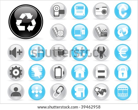 huge collection of icons with white background