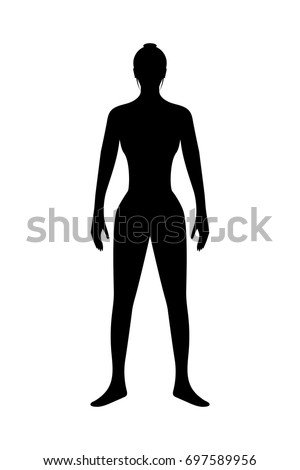 human body silhouette body healthy woman stock vector royalty free rh shutterstock com human head silhouette vector human silhouette vector ai