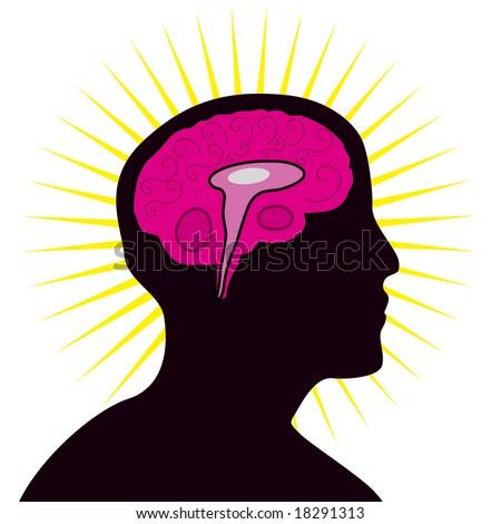 Human brain. - stock vector