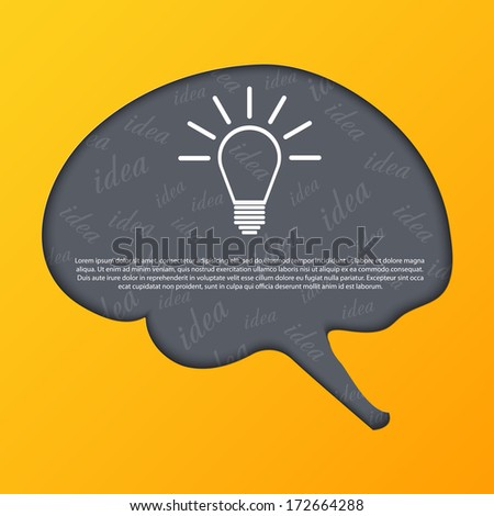 Human brain abstract background. - stock vector