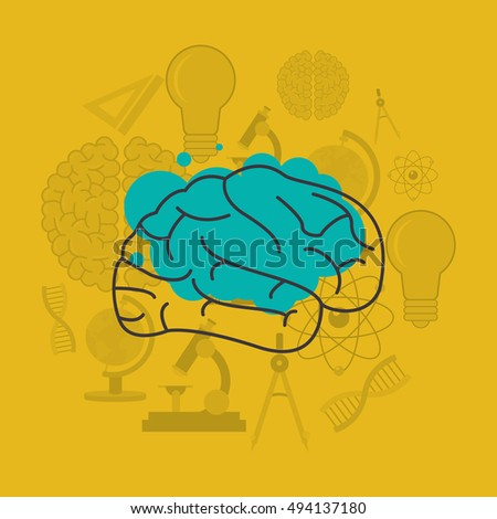 human brain and science related icons image