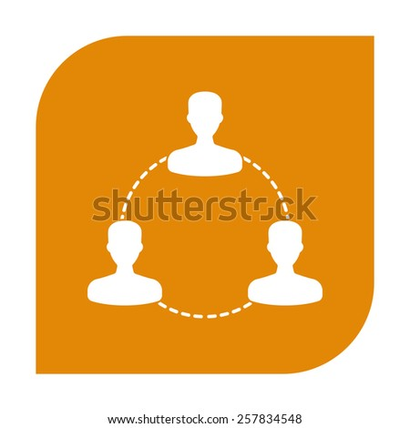 Human connection symbol. - stock vector