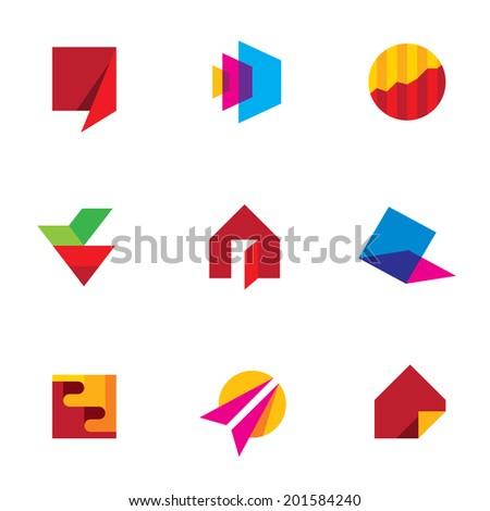Human creativity art of success icon vector company logo vector - stock vector