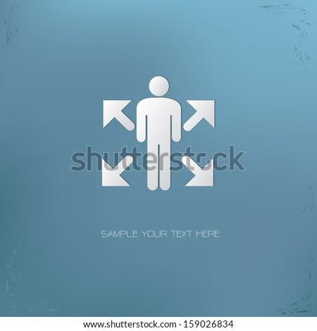 Human direction symbol,vector - stock vector