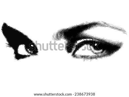 human eye beauty woman vector illustration - stock vector