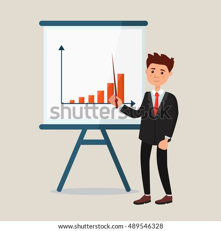 Human giving a business presentation