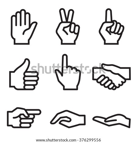 human hand icon stock photo photo vector illustration 376299556 rh shutterstock com hand drawn icon vector hand icons vector