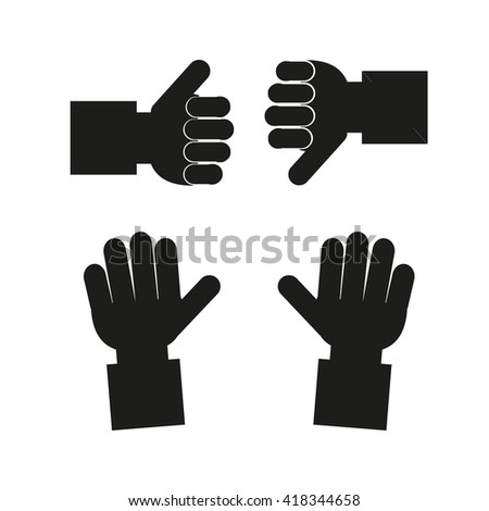 Human Hand Icon in color backdrop