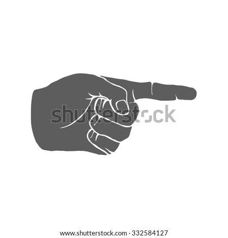 Human Hand Index Finger Hand Drawn Vector illustration
