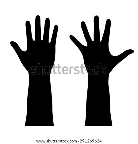 Human hands outline - stock vector
