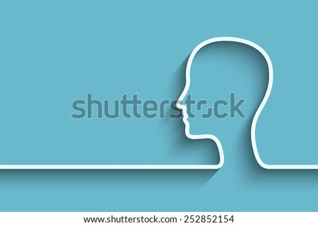 Human head background. Eps10 vector for your design - stock vector
