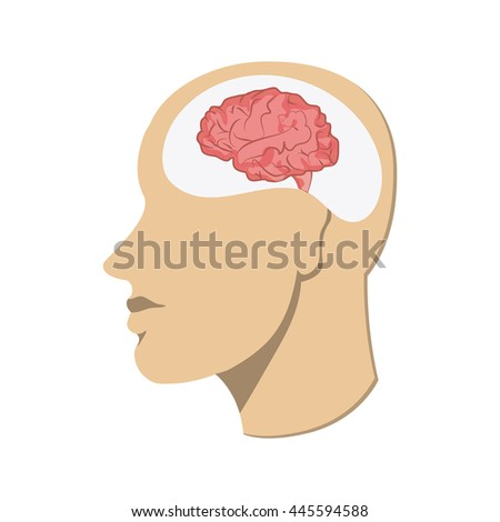 Human head icon. Thinking design. Vector graphic