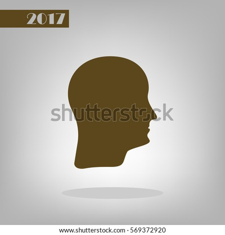 Human head silhouette. Can be used as part of various graphic compositions, or in itself.