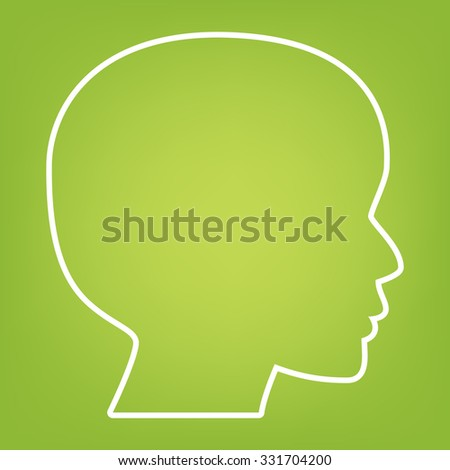 Human head silhouette line icon