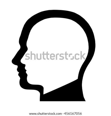 human head silhouette vector stock vector 456167056 shutterstock rh shutterstock com mickey mouse head silhouette vector woman head silhouette vector free