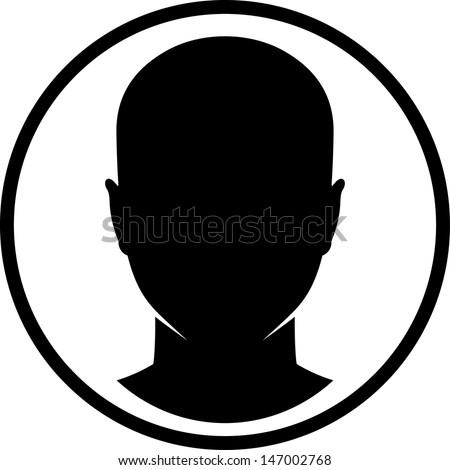 Human head vector isolated - stock vector