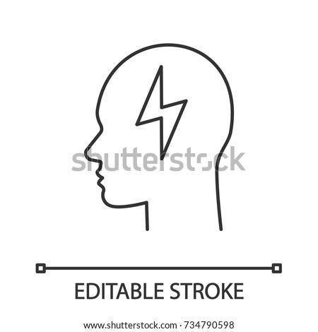 User Linear Icon Human Head Thin 704989267