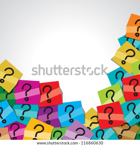 human head with question mark tag - stock vector