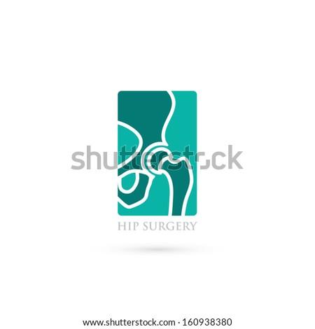 Human hip - vector illustration - stock vector
