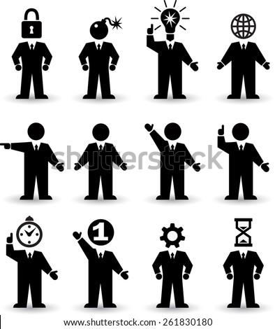 Human Icons Set - stock vector