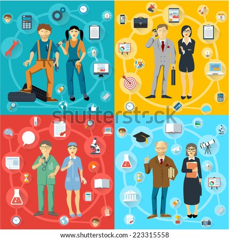 Human infographics.Retro vector template.  - stock vector