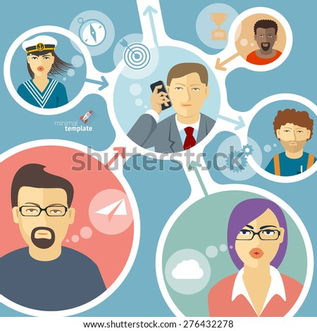 Human infographics. Vector template.  - stock vector