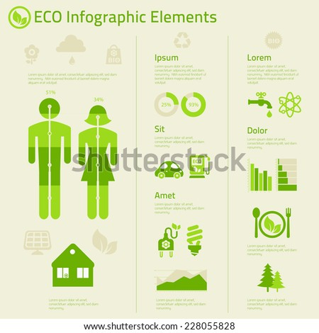 Human issues infographics template poster - stock vector