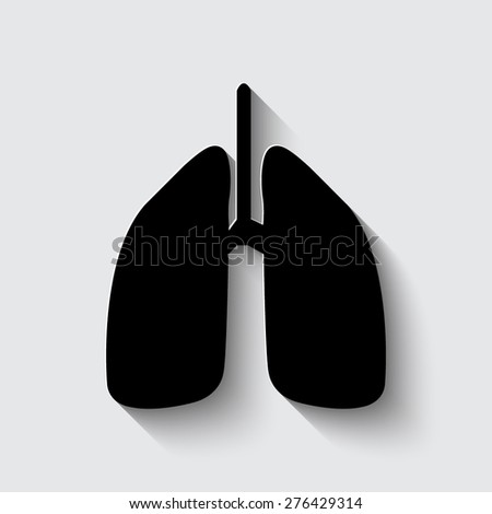 Human lung. Medical background. Health care  on a grey background