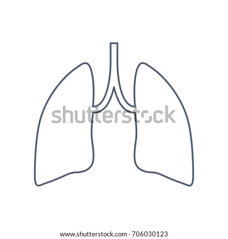 human lungs icon organ symbol template stock vector 706030123, Powerpoint templates