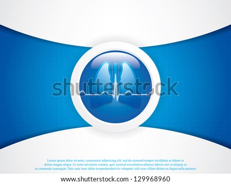 Human lungs x-ray background.Vector - stock vector
