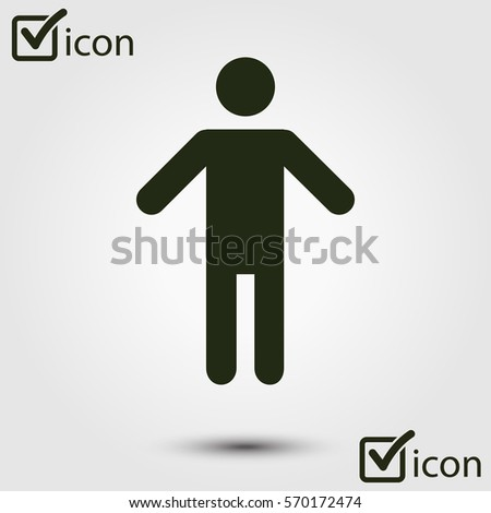 Human male sign icon  Male toilet  Flat style  A gender symbol is a. Toilet Symbol Stock Images  Royalty Free Images   Vectors