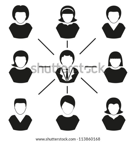 Human  management. Vector. EPS-10 (non transparent elements,non gradient) - stock vector