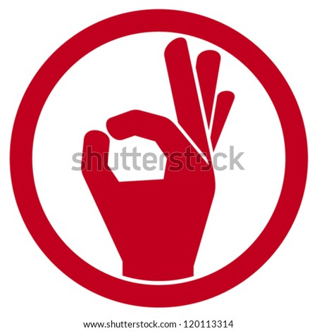 human okay hand sign (OK hand symbol, OK symbol, OK sign icon, hand okay sign, man hand showing ok sign) - stock vector