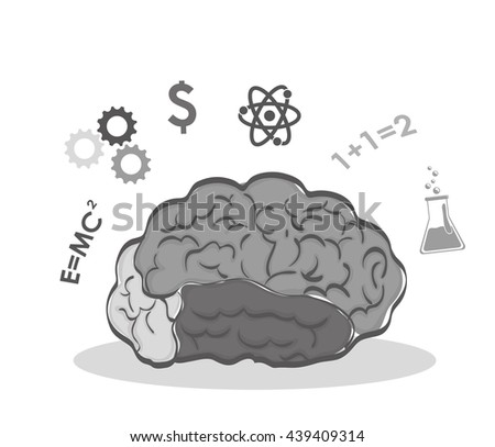 Human organ. science and brain icon. vector graphic - stock vector